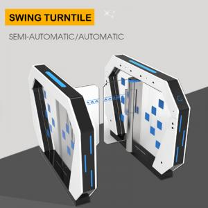 China Access Control Turnstile Barrier Gate Rfid Card Reader Security System 50W/24V on sale