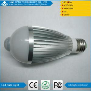 China 7W LED Light Bulb Globe with PIR Motion Sensor E27 Screw, B22 Bayonet on sale
