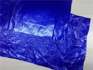 China For Jacket Or Windbreaker Garment Leather Fabric Royal Blue 0.16mm Dubont Paper Coated on sale