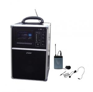 China USB / SD / MP3 Portable PA System With Cassette Tape Player, Built-in Rechargeable Battery on sale