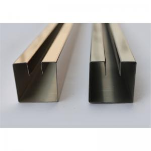 China Mirror Finish Gold Stainless Steel Angle U Shape Trim 316 304  for wall  ceiling door frame border furniture decoration on sale