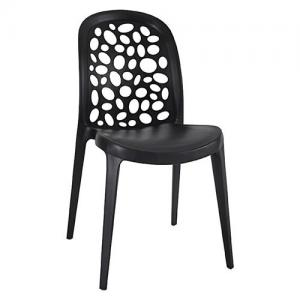 China Outdoor Modern Restaurant Plastic Stacking Chairs PP Dining Upholstered on sale