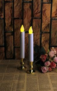 China 2 PCS FLAMELESS LED TAPER CANDLES WITH 5 HOURS TIMER on sale