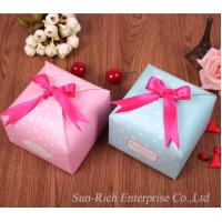 China Custom Perfect gift box candy box with ribbon bow on sale