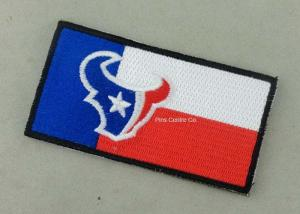 China Heat Cut Custom Embroidery Patches with Hot Melt Adhesive 8 - 100 mm Size on sale