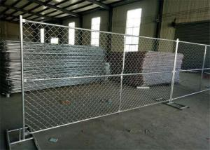 China 6 Foot / 10 Foot / 12 Foot Temporary Chain Link Fence Low Carbon Steel Q235 Material on sale