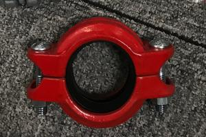 China High Pressure Hose Clamps Spheroidal Graphite Cast Iron Red or Blue plating Surface finish on sale