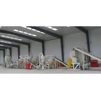 China 1000kg Per Hour Tyre Crushing Machine , Waste Tire Recycling Machine Low Noise on sale