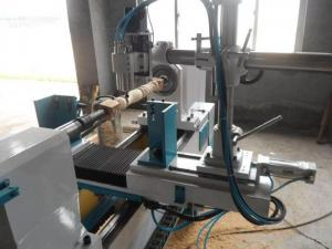China Multifunction CNC Wood Lathe Machine Iron Material With Servo Driving System on sale