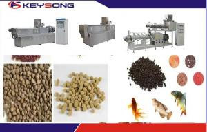 China Floating Sinking Fish Food Feed Making Machine Fish Feed Extruder Adjusted Voltage on sale