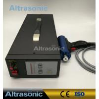 Titanium / Aluminium Alloy 28Khz Ultrasonic Riveting Welding Machine For Fabric / Plastic Bonding