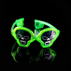 China Skull Shaped LED Glasses For Concerts, Party, Night Clubs And More! on sale