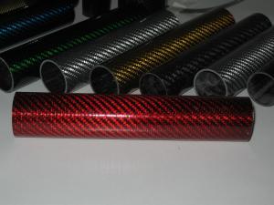 China la fibra de vidrio colorida mezcló el tubo/el tubo de la fibra de carbono para adornar on sale
