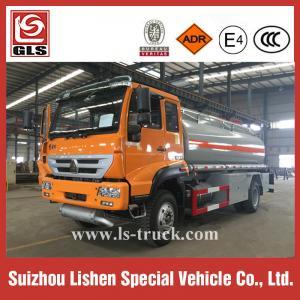 China RHD 4X2 SINOTRUK Carbon Steel 12000L Fuel Bowser Fuel Tanker Truck on sale