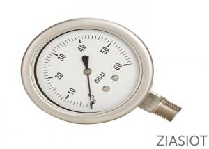 China Low Pressure High Accuracy Pressure Gauge Stainless Steel For Oil / Gas on sale