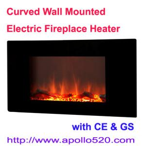 China Wholesale Curved Wall Mounted Electric Fireplace on sale