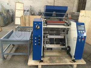 China High Efficiency  Cling Film Making Machine / Plastic Film Slitting Equipment With Roll Materials on sale