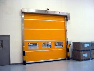 China Industrial PVC High Speed Shutter Door Interior 304 Stainless Steel Frame on sale