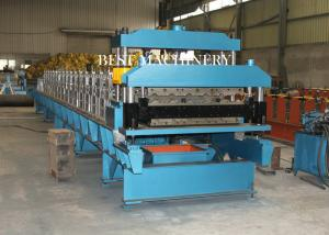 China Guide Pillar Steel Color Roof Tile Roll Forming Machine High Precsion on sale
