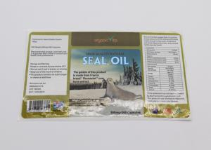 China Seal Oil Barcode Food Label Stickers , Spot UV Surface Handle Food Product Labels on sale