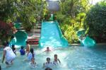 Swimming Pool Play Fiberglass Water Park Equipment Family Wide Slide For Kids