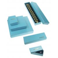 157g + 800g Jewelry Recycled Cardboard Gift Packaging Boxes For Necklaces , Blue Luxury Gift Boxes