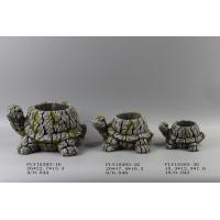Turtle Shape Cement Flower Planter Garden Pot Bark Design 26 X 22.5 X 13.3 Cm