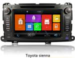 Black Car Gps Navigation System With Canbus Bluetooth Dvd For Toyota Sienna