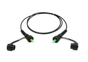 China Outdoor Fiber Patch Cord IP67 Waterproof ODVA - SC Connector With Black Jacket on sale