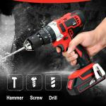 Large Battery Capacity Electric Impact Driver , Blue 20v Impact Driver