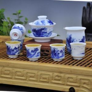China Blue and White Porcelain Tea Sets  High Temperature Tea Sets on sale