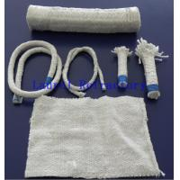 Thermal Insulation Refractory Ceramic Fibers Cloth / Tape / Twisted Rope