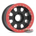 Factory Price Alloy Black 17x9 Beadlock 4x4 Rim Wheel 16X7 PCD 5X114.3 8 Spoke steel beadlock wheel
