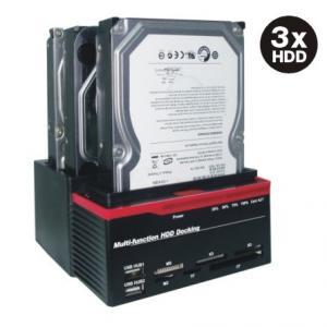 """Quality USB2.0 à 2,5 3,5"""" IDE&SATAx2 trois station d'accueil multifonctionnelle MH-HDS-893U2IS des fentes HDD for sale"""