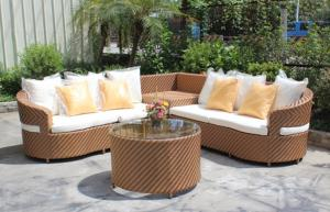 China 4 piece -weather resistant PE wicker rattan Star hotel living room sofa set hotel furniture-16240 on sale