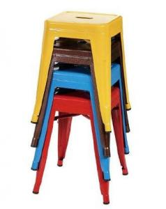 Quality Small Size Metal Event Stool Tolix Dining Chairs in Powder Coating , Yellow Blue Red for sale