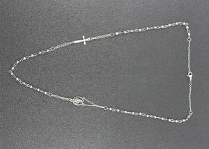 China Fancy Catholic Silver Color Jesus Cross Jewelry With Handmade Long Bead on sale