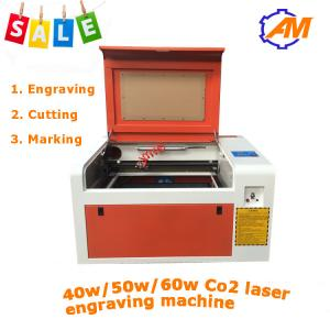 China hot sale 4060 40w/50w/60w wood plexiglass acrylic laser engraving machine co2 laser engrav on sale