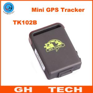 China SPY Real-time Mini GPS Tracker GPS/GSM/GPRS Vehicle Car Tracking system TK102B + TF card slot on sale