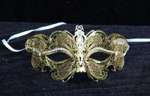 China Halloween Prop Half Face Filigree Masquerade Venice Mask For Adult on sale