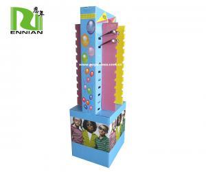 China Food Dump Corrugated Cardboard Display Stand , Goggles Display Racks Eco Friendly on sale