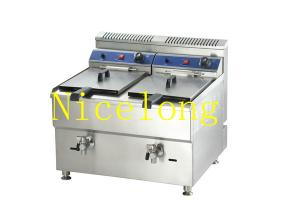 China Restaurant kitchen equipment double tanks gas fryer for sale GF-182 on sale