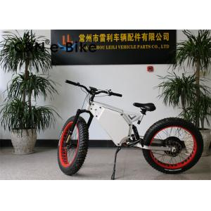 China High Speed Electric Mountain Bikes With Fat Tires , Fat Tire Electric Beach Cruiser on sale