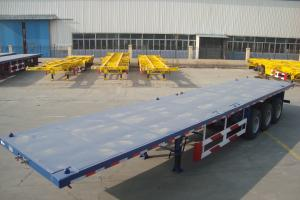 Quality tri-axle trailer flatbed container semi trailer with twist locks - CIMC VEHICLE for sale