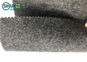 China Polyester Fabric 1mm Grey Needle Punched Non Woven Fabric Fire Retardant on sale