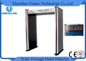 China 6 Zone Portable Metal Detector For Police Station / Jail PVC Synthetic Material on sale