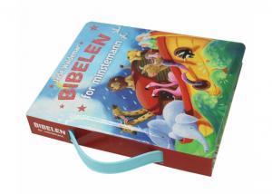 China Grayboard Kids Cardboard Books , Educational Hard Board Books With Handle on sale