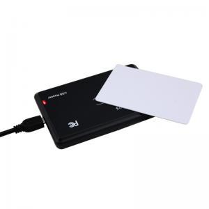 China IP 65 USB RFID Card Reader EM / Mifare Card Reader And Writer Black Color on sale