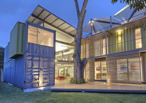 China Metal Steel Container Box Houses , Shipping Container Home Construction on sale