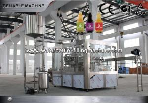 China Gravity Apple Juice Filling Machine Beer Bottle Filler PLC Control Easy To Be Operated on sale